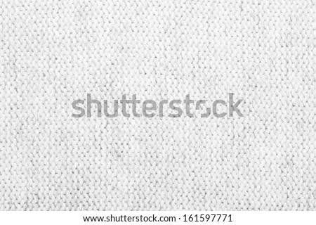 White Soft Fabric Texture - stock photo