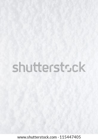 White soft snow surface for background - stock photo