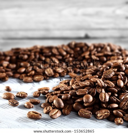white space of coffee  - stock photo