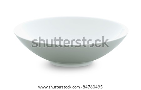 White Sphere Bowl top view on white background. Isolated 3d model - stock photo