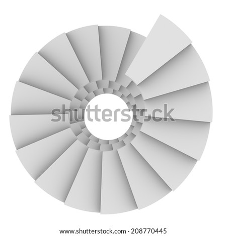 White spiral staircase - stock photo