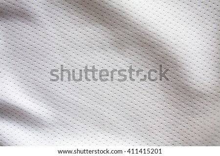 White sports clothing fabric jersey texture - stock photo
