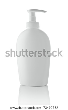 white spray bottle - stock photo