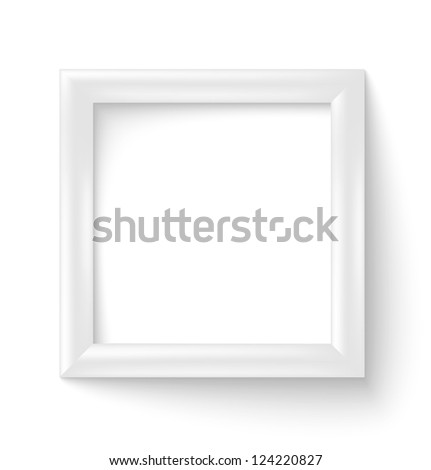 white square 3d photo frame with shadow raster version - White Square Frames