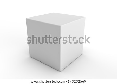 white square packaging on a white background - stock photo