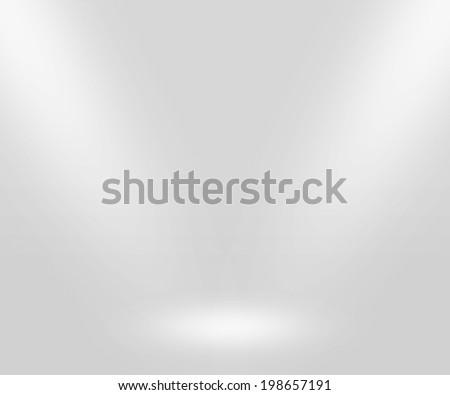 White Stage Backdrop - stock photo