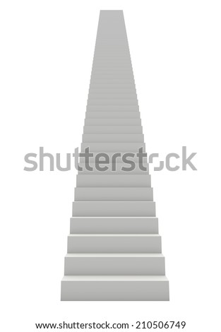 White Staircase - stock photo