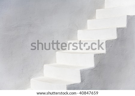 White stairs, Santorini, Greece, Europe