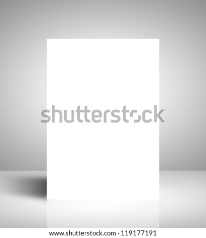 white stand on white interior - stock photo