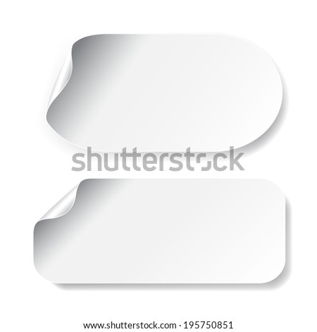 white stickers - stock photo
