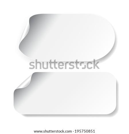 white stickers - stock photo