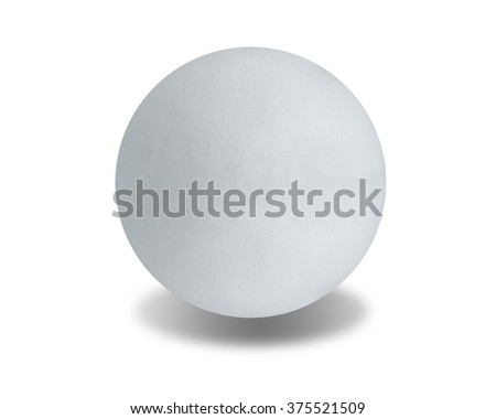 white stone ball on isolated white background, with clipping path