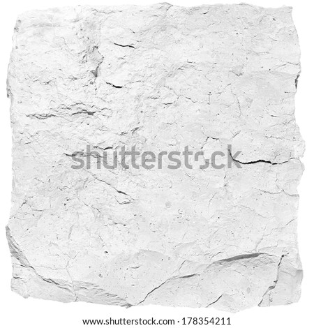 White stone block - stock photo