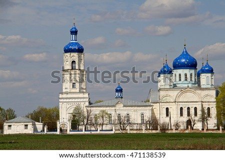 White-stone church in Ryazan region 2