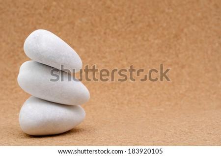 White stone pyramid - stock photo