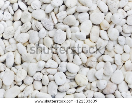 White stones - stock photo