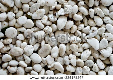 white stones and pebble - stock photo