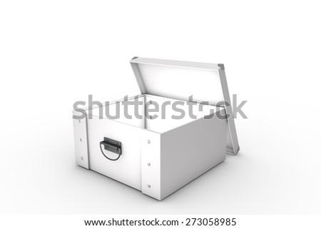 White storage box - stock photo
