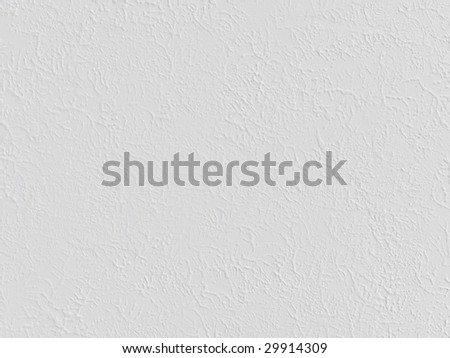 White stucco texture background - stock photo