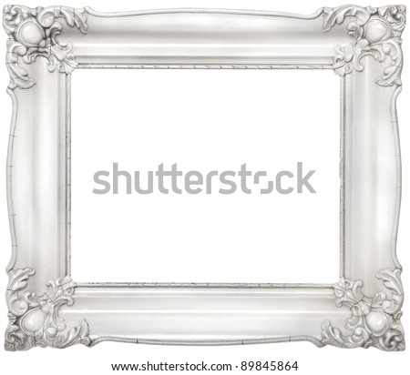 White Stylish Baroque Frame Copy Space Stock Photo (Download Now ...