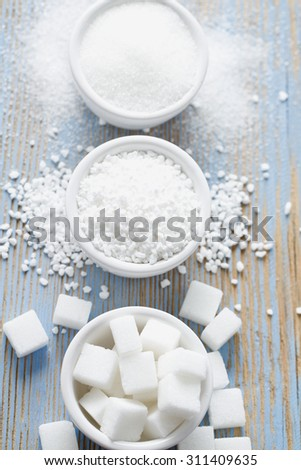 white sugar assortment - stock photo