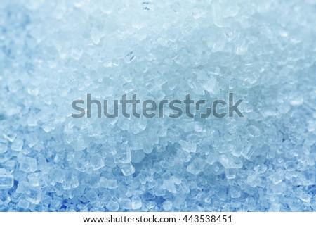 White sugar background close up macro background - stock photo