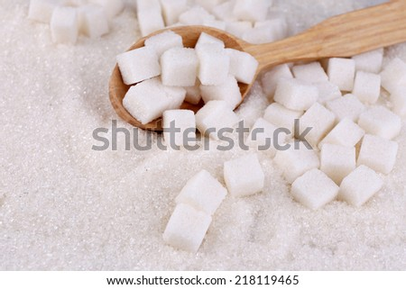 White sugar in light background background - stock photo