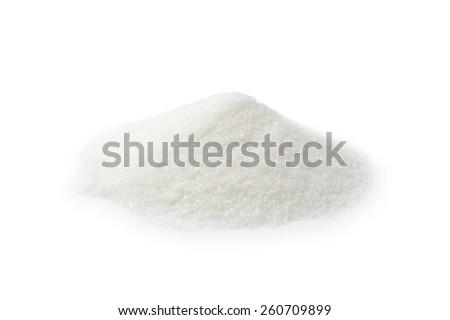 White sugar isolated on white - stock photo