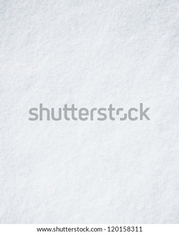 White surface of real snow - stock photo