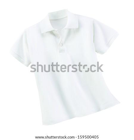 white t shirt - stock photo