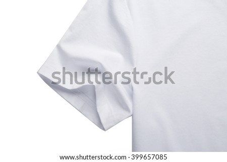White T-shirt cuffs