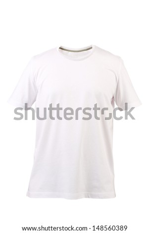 White T-shirt. Front. - stock photo