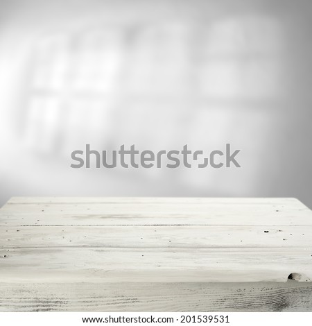 white table and shadow  - stock photo