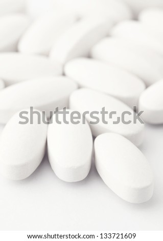 White tablets - stock photo
