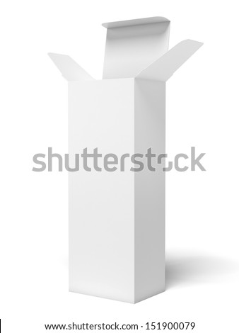white tall box - stock photo