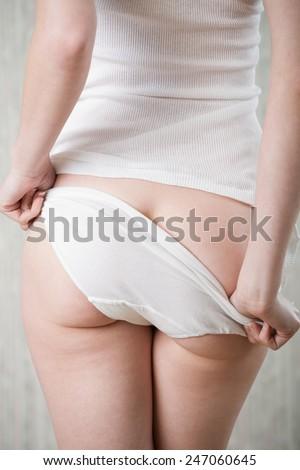 White tank and panties - stock photo