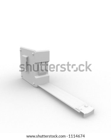 white tape measure on white background - stock photo