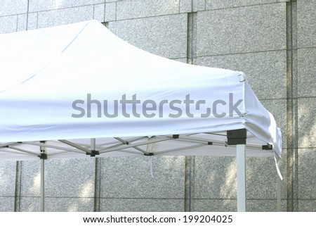 White Tent At Outside