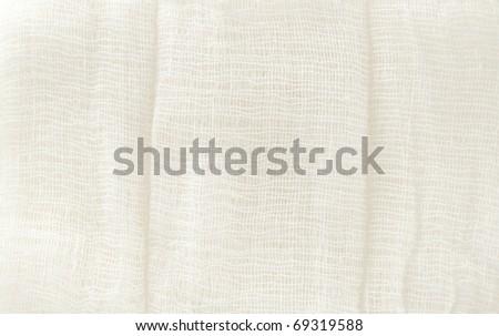 white texture of medical bandage - stock photo
