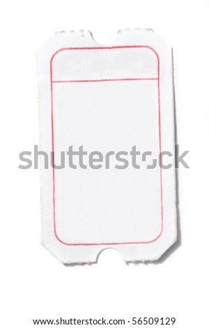 white ticket isolated - stock photo