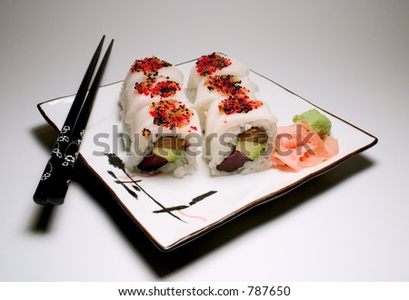 White Tiger Roll - stock photo