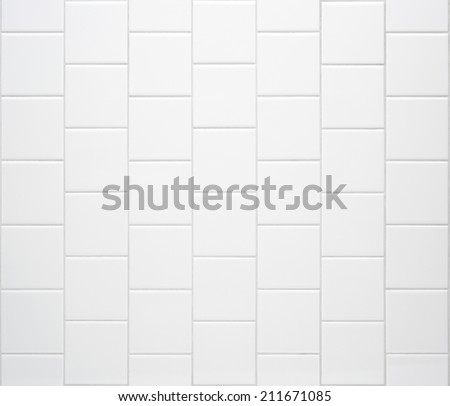white tile texture - stock photo