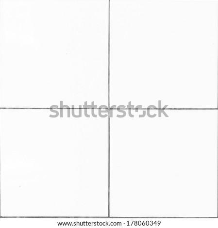 white tile texture wall - stock photo