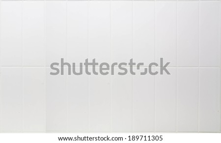 White tiles and grout - stock photo