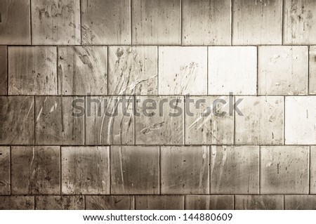 white tiles is dirty - stock photo