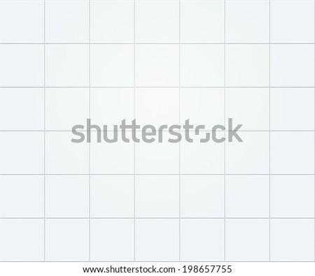 White Tiles Texture - stock photo