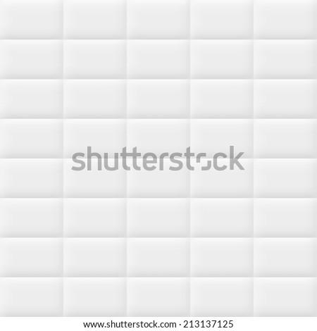 White tiles texture. Seamless pattern - stock photo