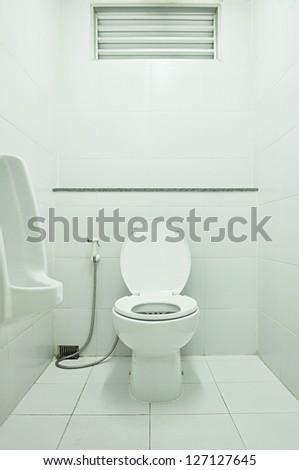 White toilet - stock photo
