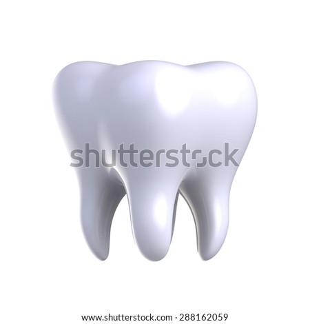 White tooth. - stock photo