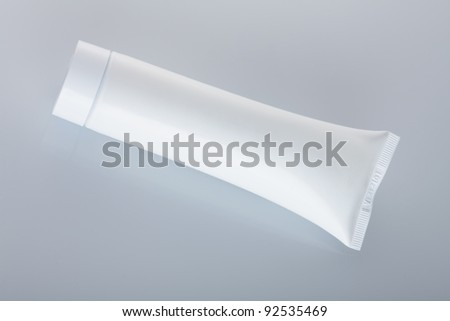 White Toothpaste Tube Isolated on White Background - stock photo